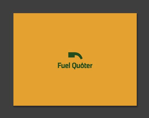 A Fuel Hose Is A Quote Sign Rotated The Logo Design For Fuel