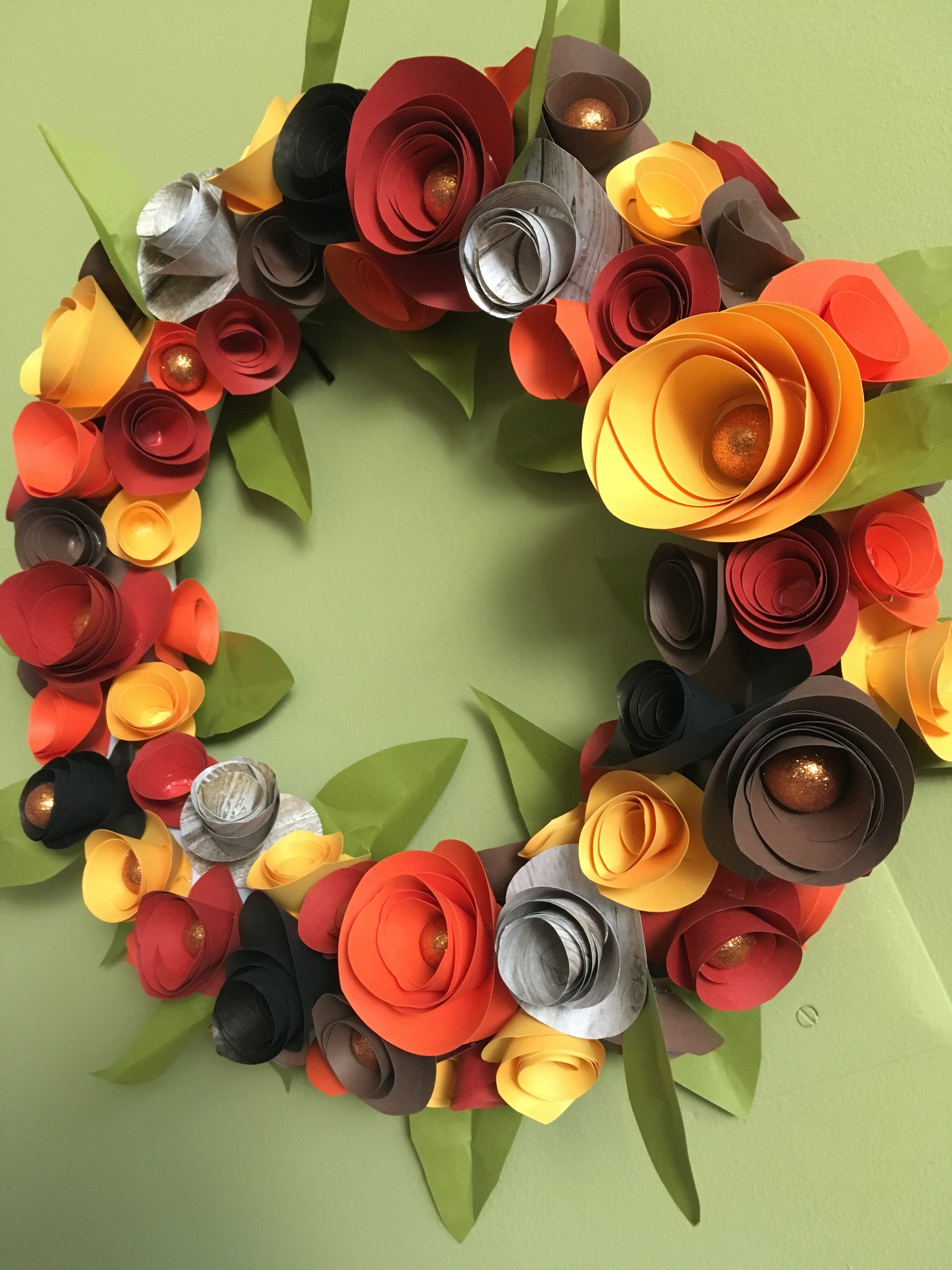 Diy Toilet Paper Roll Wreath Tday Harvest Fall Www