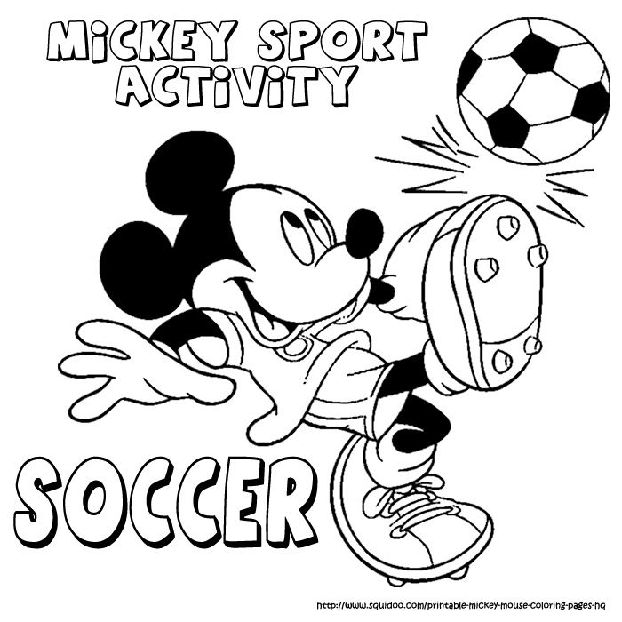 kleurplaten sport | Printable Coloring Pages for Kids : Mickey mouse ...