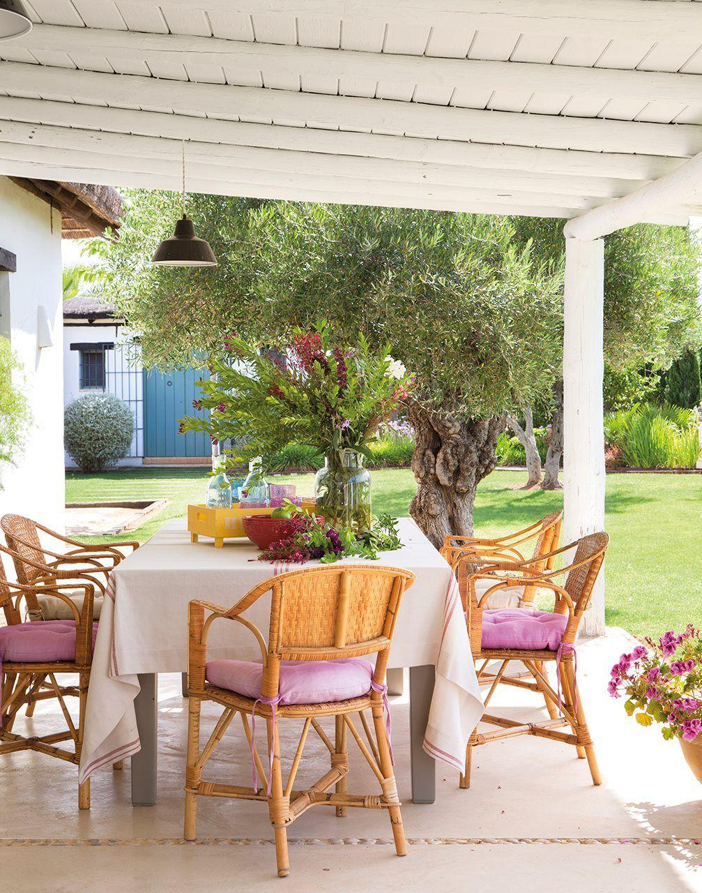 Decoraci n de un cortijo andaluz alpendre pinterest for Decoracion casa verano