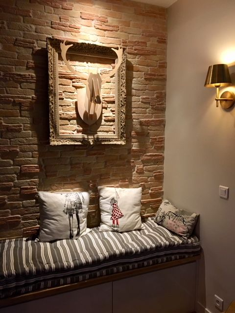 Coussin tapissier capitonné sur mesure en toile matelas vintage pour une banquette