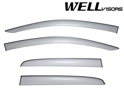 For 15-16 Ford F-150 Crew Cab  WellVisors Side Window Visors Premium Series