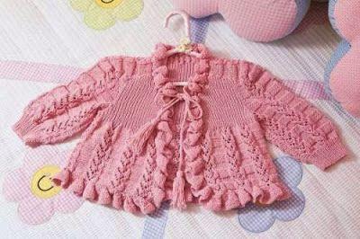 hermoso chaleco para bebe de 3 meses tejido a palillo como tejer a palillo  u chaleco para bebe OjoconelArte.cl  20c421544cb
