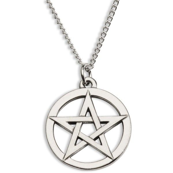 Supernatural Accessories Pentagram Necklace ANL-52 (195 NOK) ❤ liked on Polyvore featuring jewelry, necklaces, pentagram necklace and pentagram jewelry