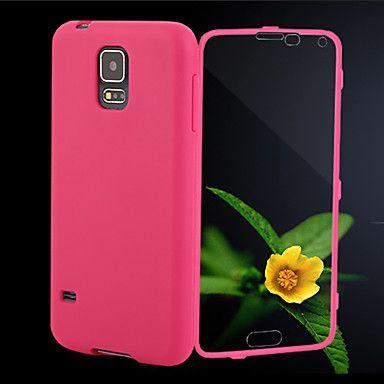 Samsung matkapuhelin - Samsung S5 I9600 - Kännykkäkuori - Yhtenäinen väri ( Musta/Valkoinen/Sininen/Ruusu , Silicone/TPU ) – EUR € 5.99