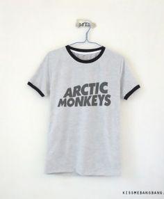 0014fb29a5c Arctic Monkeys Logo Ringer Tee  13.99   Arctic Monkeys Logo   Arctic  Monkeys Shirt   Fangirl
