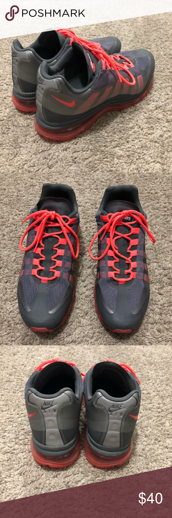 best loved f5031 84dcc Nike Air Max 95 360 Silver Orange Womens Sz US 10 Nike Air Max 95 360 BB  Running Shoes Silver 511308 061 Orange Womens Sz US 10. Does have 1 small  tear, ...