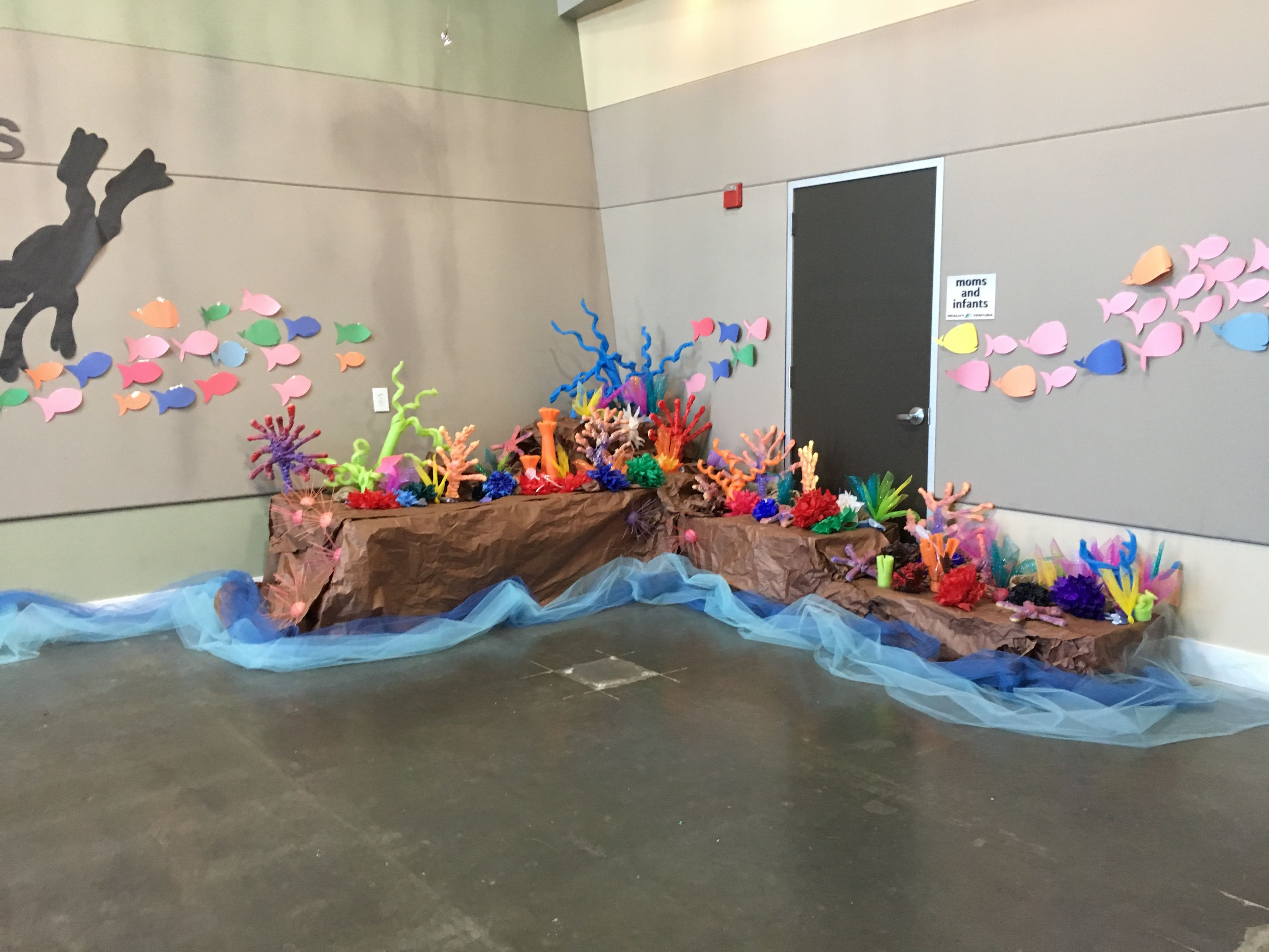 Vbs Homemade Coral Reef Using Pool Noddles, Spray Foam Insulation,