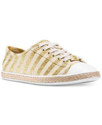 d9b6444346b8 MICHAEL Michael Kors Kristy Lace Up Striped Espadrille Sneakers ...