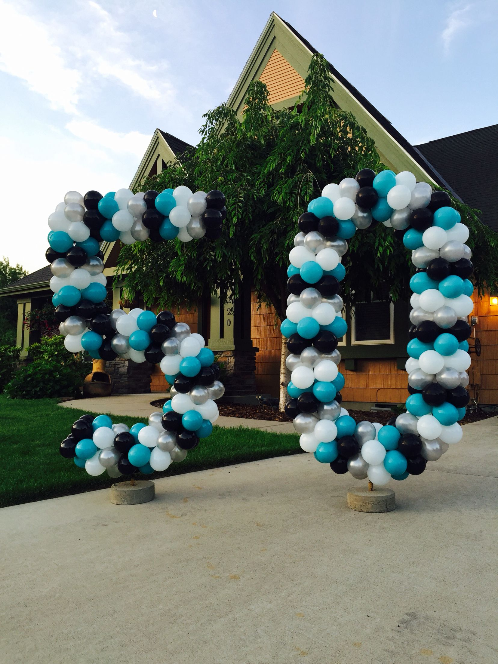 50th Birthday Yard Balloon Numbers Large Balloon Numbers Black And