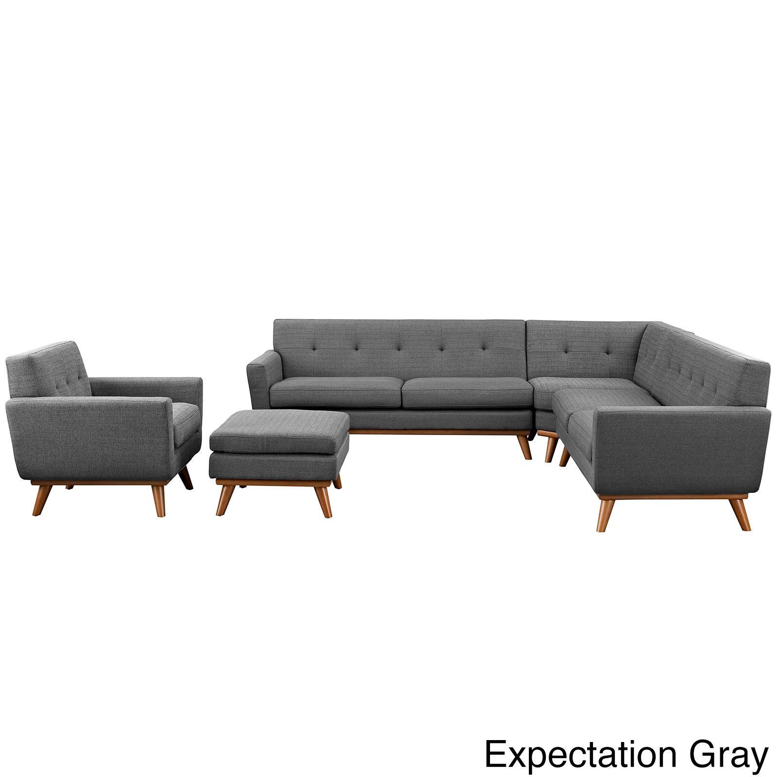 Awe Inspiring Modway Engage 5 Piece Sectional Sofa Products Sectional Ibusinesslaw Wood Chair Design Ideas Ibusinesslaworg