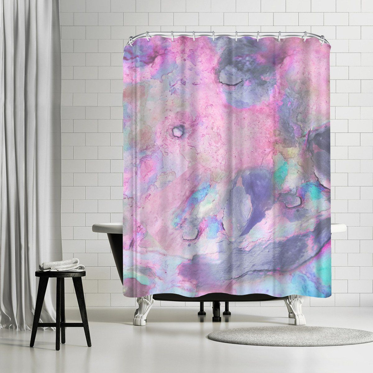 Iridescence By Emanuela Carratoni Shower Curtain Striped Shower