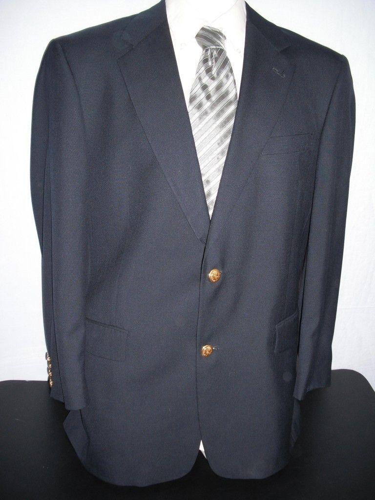 Hart schaffner marx navy blue blazer navy blue blazer