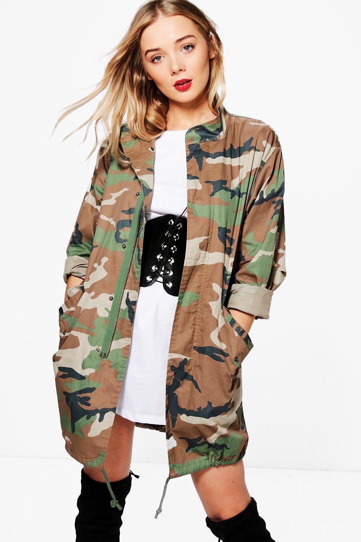 Isobel Camo Jacket boohoo Camo jacket, Coats jackets