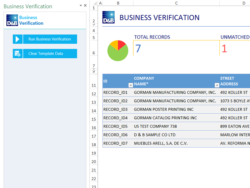 Office Templates Business Verification Database Excel Templates