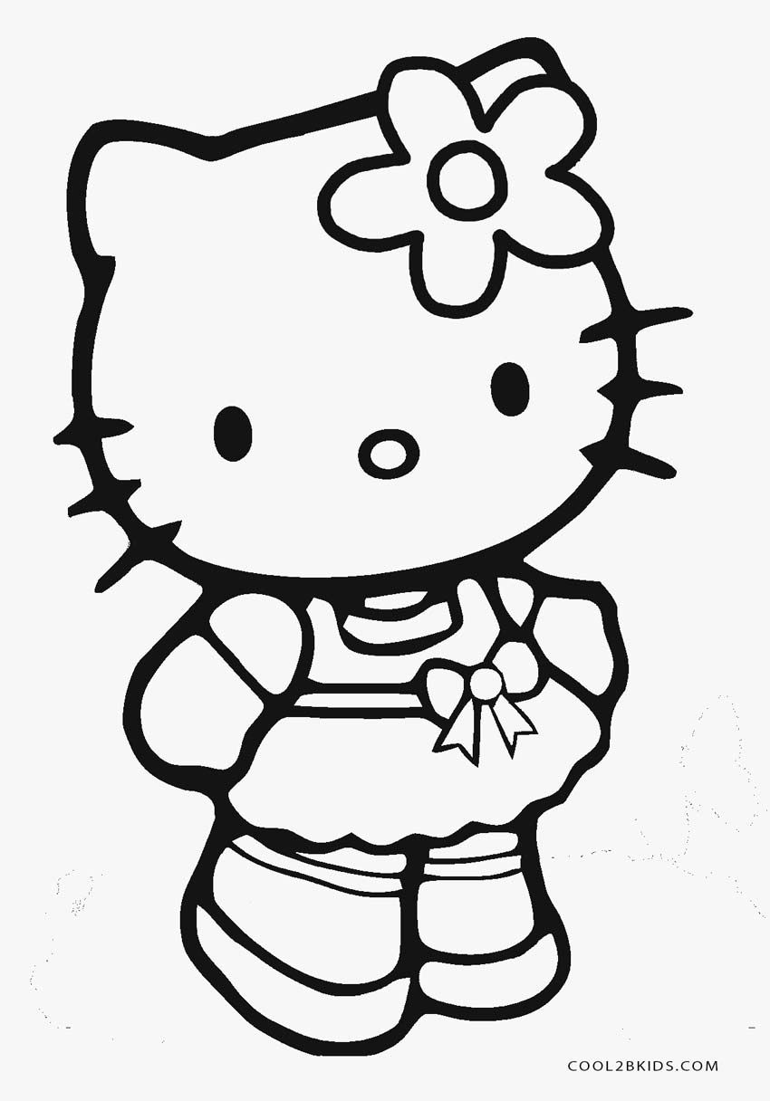 Free Printable Hello Kitty Coloring Pages 850×1216