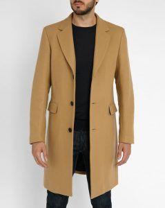 manteau long camel 66 laine 7 cachemire de sandro. Black Bedroom Furniture Sets. Home Design Ideas