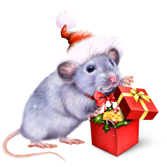 christmas-gift-for-a-mouse-7 | Рождественские картины ...