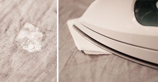 Hur man får bort stearinfläckar från textil