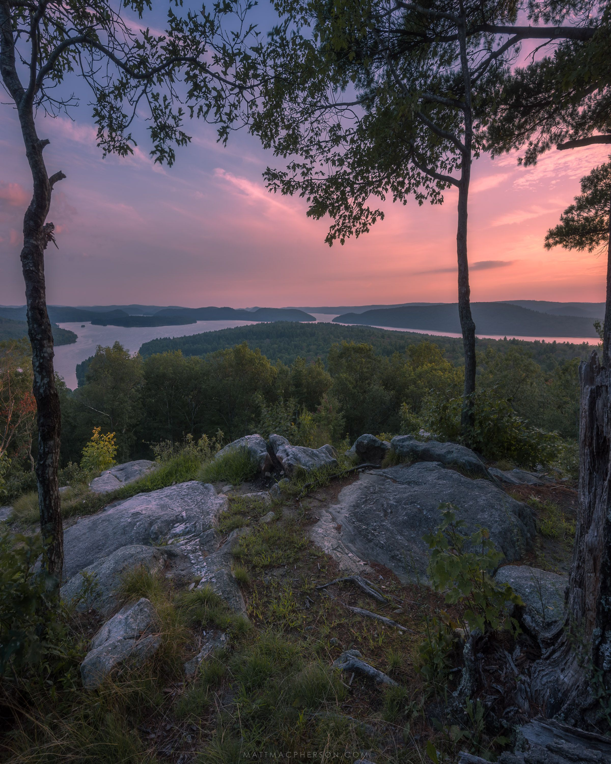 Beautiful Nature View: Ledge With A Beautiful View In Petersham Massachusetts [OC