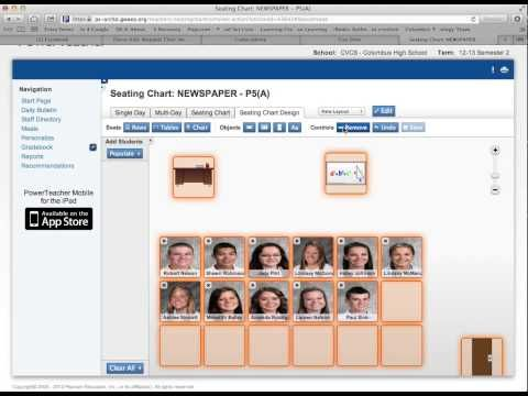 Video on working with Seating Charts in Powerschool