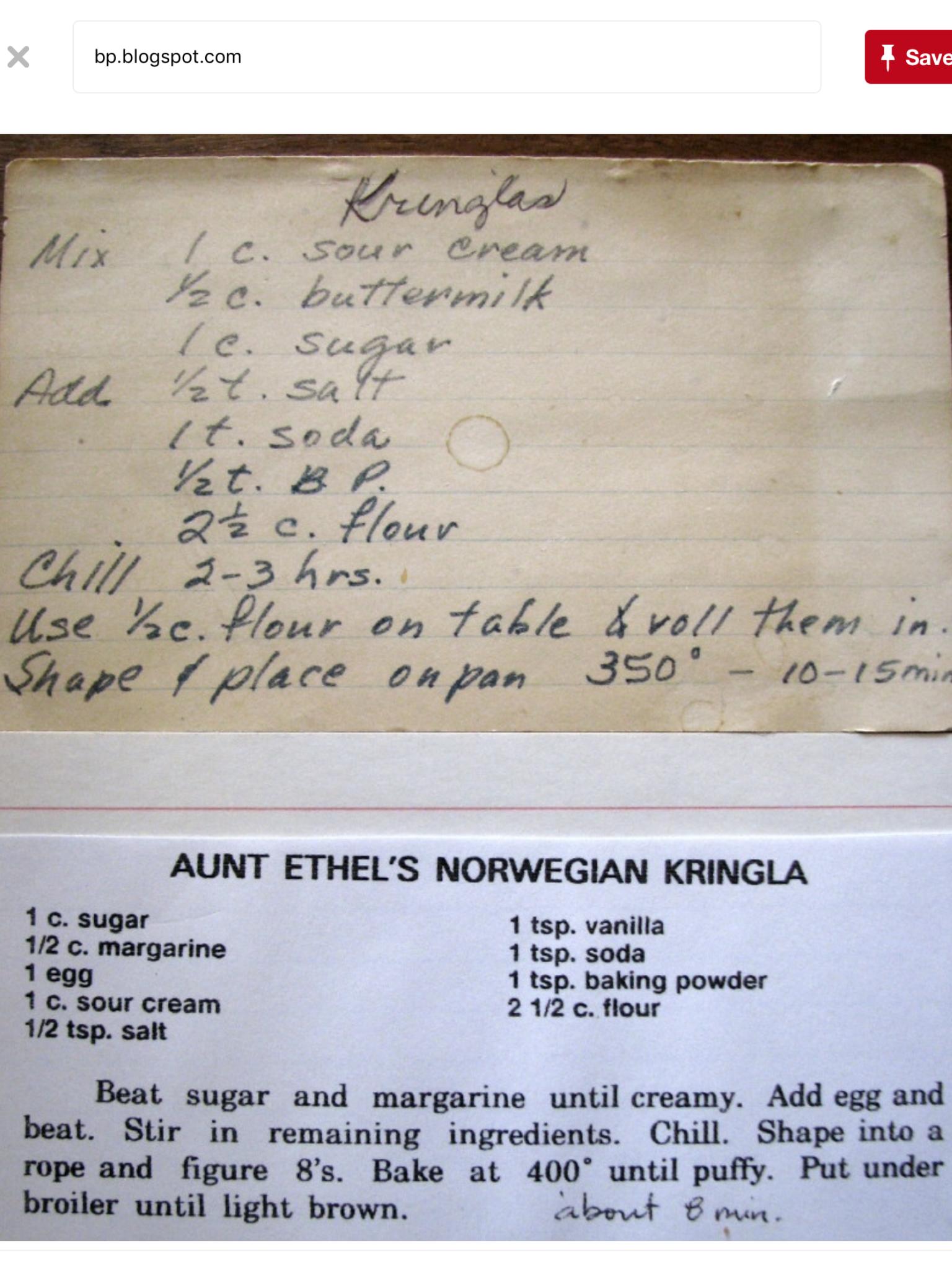 Kringle Kringla Recipe Vintage Recipes Scandinavian Food