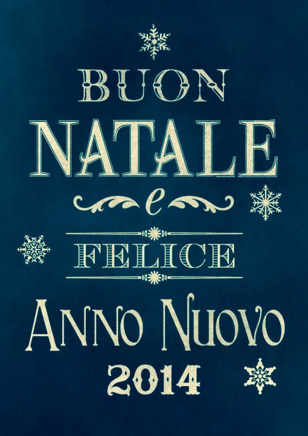 merry christmas happy new year 2014 in italian
