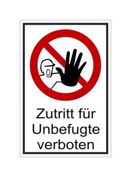 Verboten Zutritt Verboten Schild Unbefugte Haben Keinen Zutritt Schilder Verbotsschilder Aufkleber