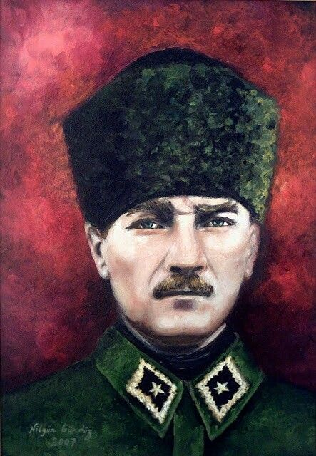 Tuval Uzerine Yagliboya Nilgungunduz Ataturk Atam Gazimustafakemalataturk Akrilik Tuval Tuval Sanati Tuval Resimleri