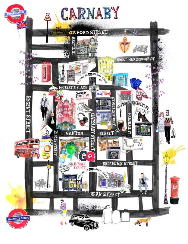 Carnaby Street Map Map design #Map #MapDesign #InfographicMap #Design #GraphicDesign