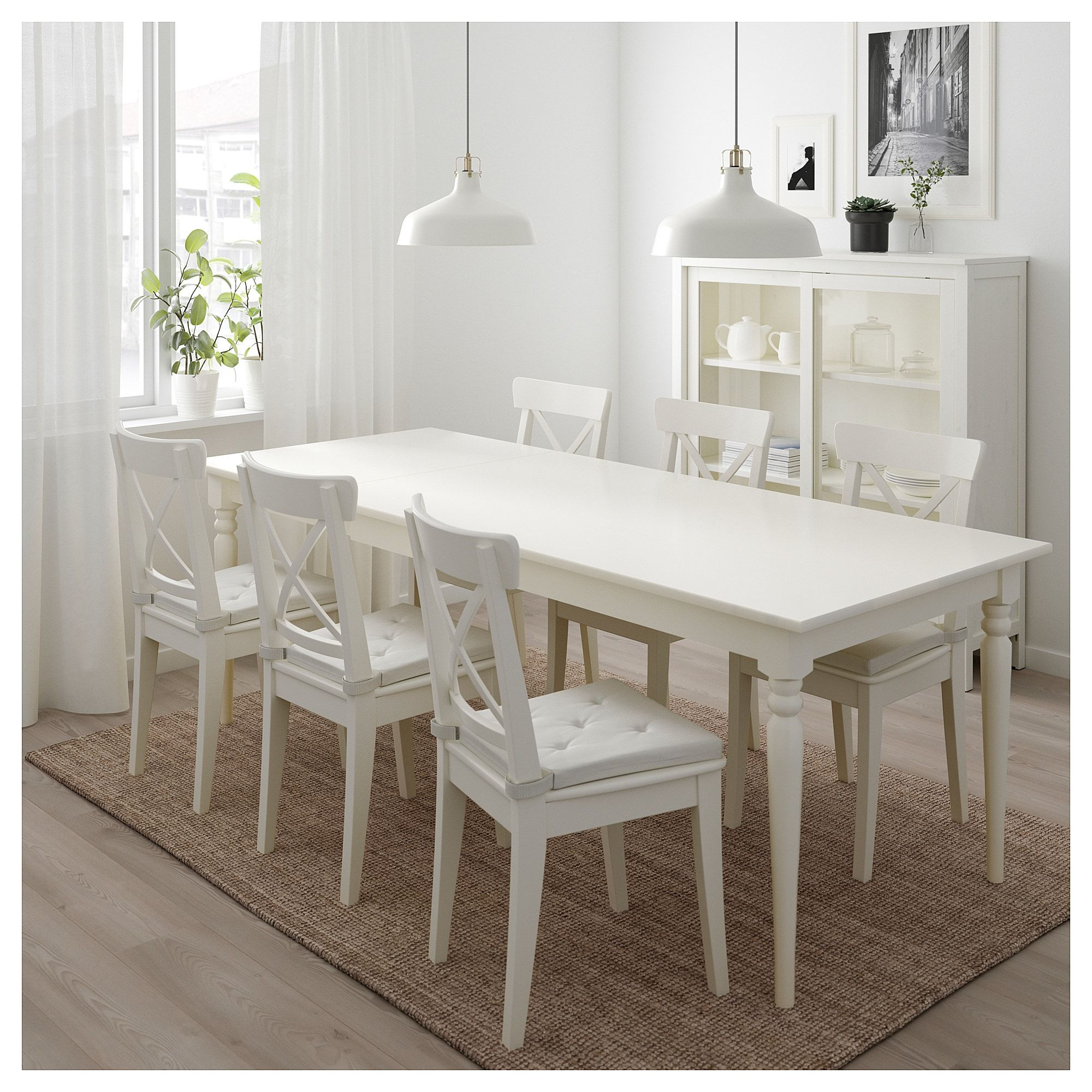 Ikea Ingatorp White Extendable Table In 2019 Dining