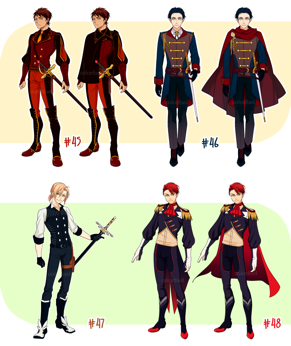 (OPEN AUCTION) Adoptables #45+46+47+48 by colorfuel | uc637 ...