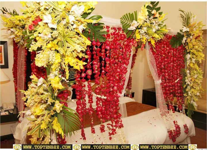 Sperb Bedroom Decoration With Flowers Wedding Styles