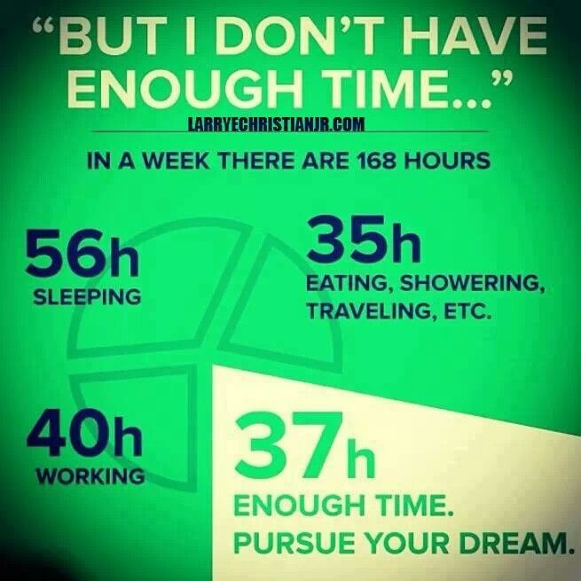 We all have the same 24 hours in a day. Find the time for