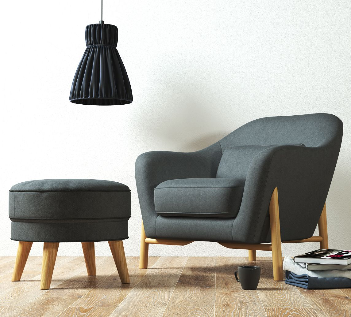 Wilson Armchair and Cooper Ottoman Armchair, Chair