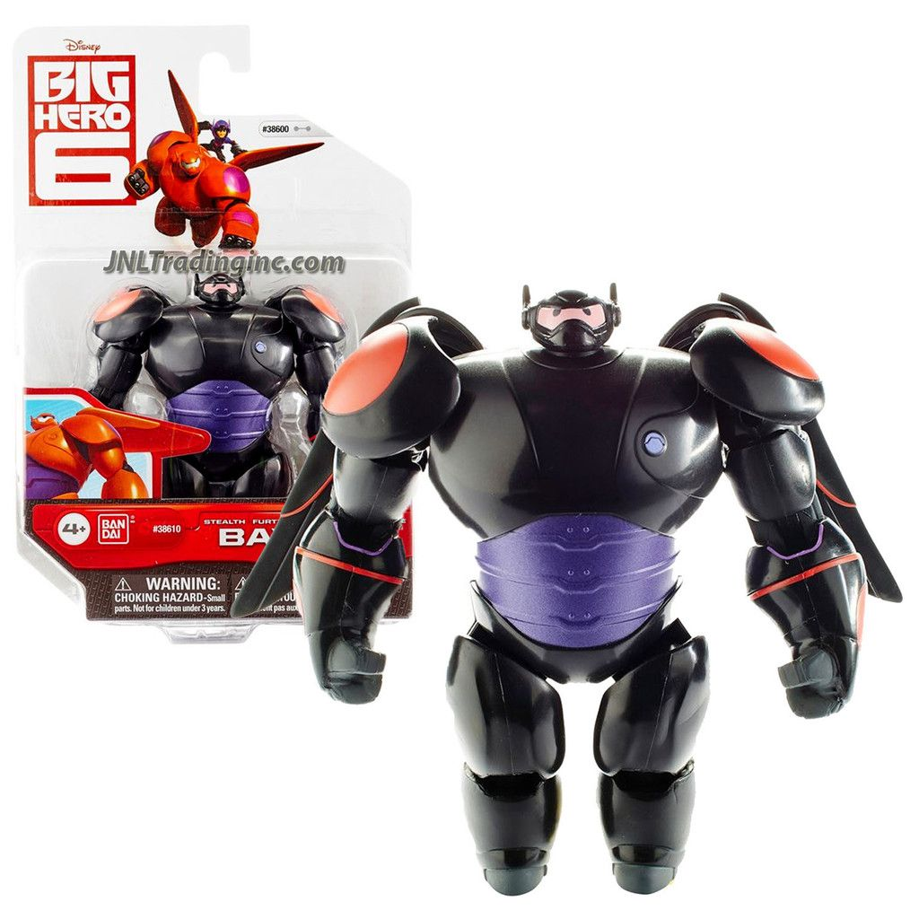 Disney Big Hero 6 Movie Series 4 1 2 Inch Tall Action Figure Black Suit Stealth Baymax With 2 Removable Wings Dragones