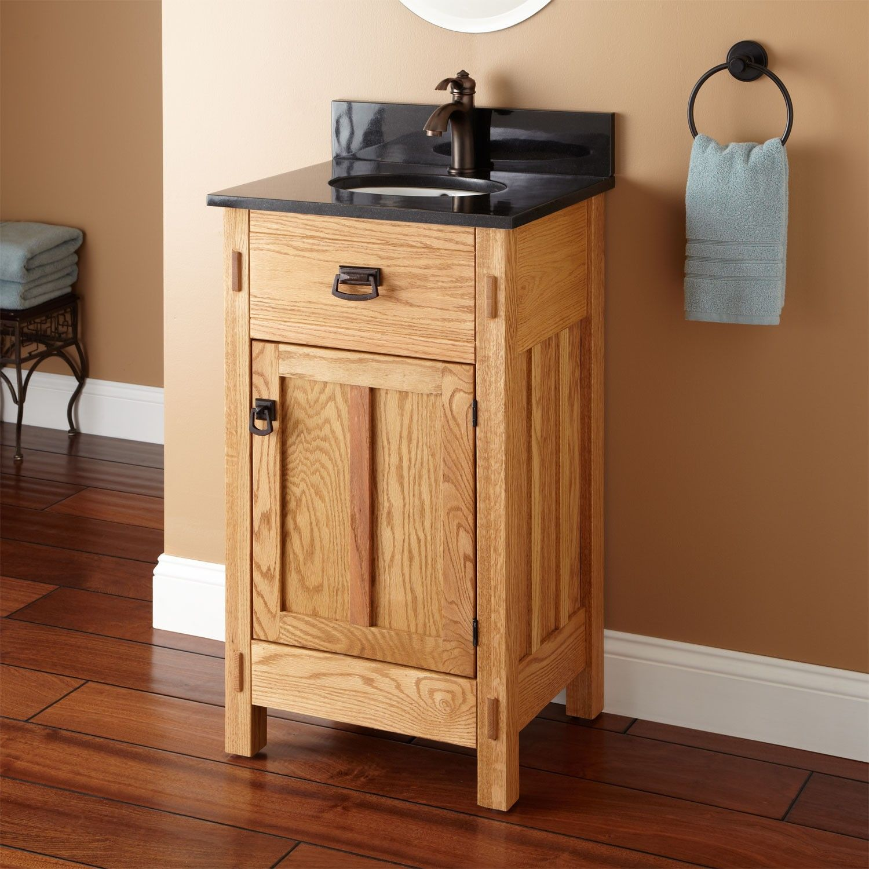 20 Mission Hardwood Vanity With Undermount Sink Bathroom