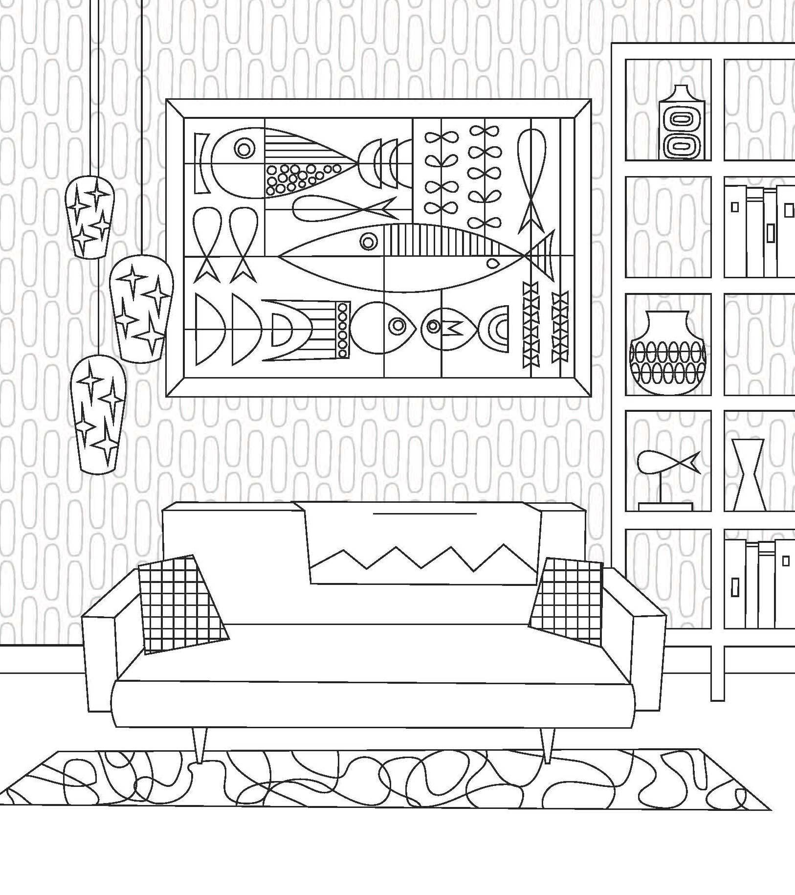 Living room coloring page - The Coloring Book Craze Has Grown To The Point Where Google Suggests Coloring Books For