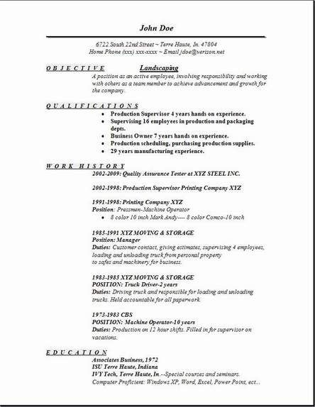 landscaping resume download template sample cover letter for hotel - livecareer review