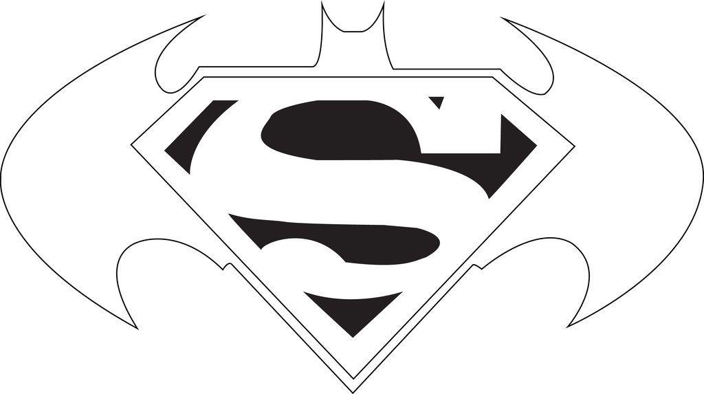 Batman Outline And Superman Clipart Outline Jpg Clipartix Superman Clipart Batman Logo Batman And Superman