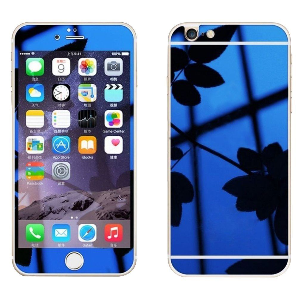 Frontback mirror effect full coverage tempered glass