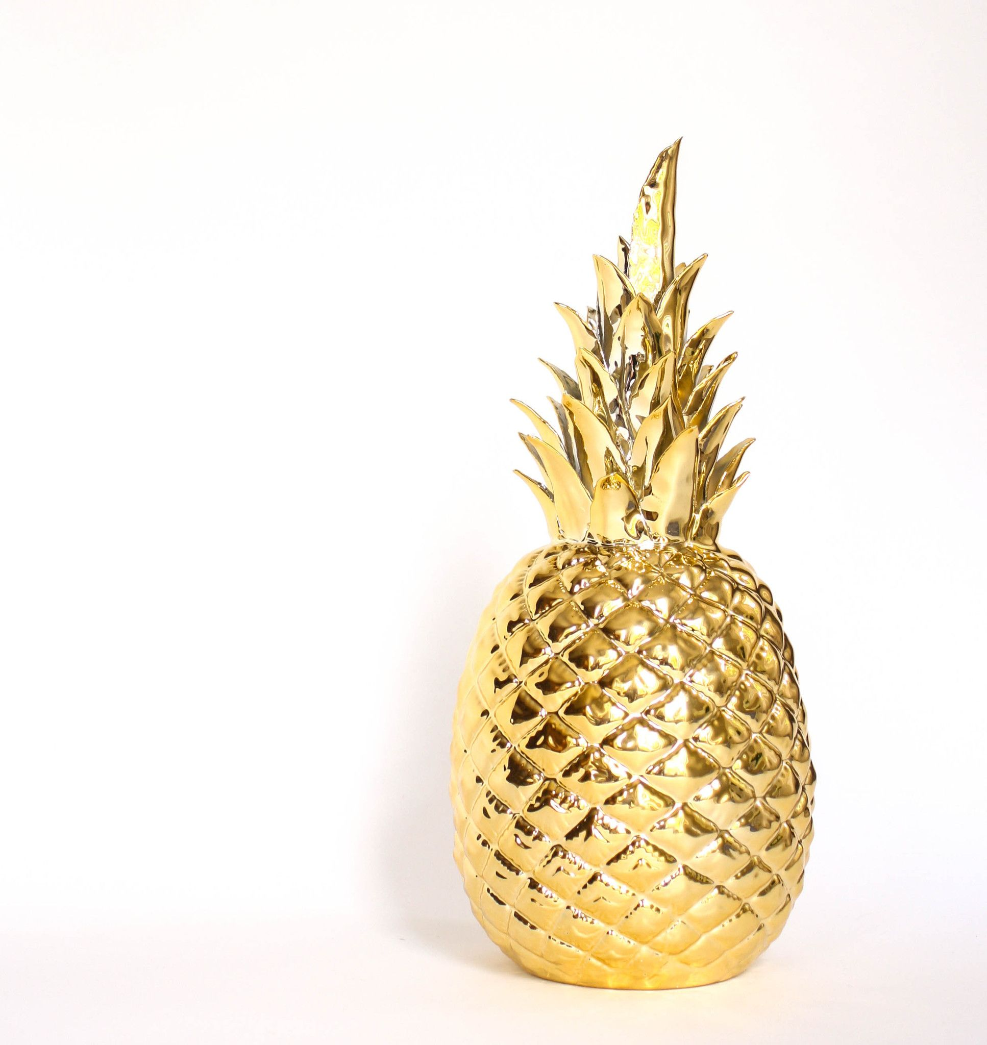 Golden pineapple gold pinterest id es d co pour la for Ananas deco maison