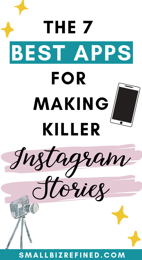 Uplevel your Instagram strategy with these awesome Instagram story apps! These apps are perfect for filming, designing, scheduling, and editing Instagram stories. They'll help you improve productivity and increase Instagram engagement. Click for the list of the 7 best Instagram story apps, whether you're editing video content or creating branded templates for Instagram stories. #instagramtips #instagramstories #smallbusiness #smallbiz #socialmediatips