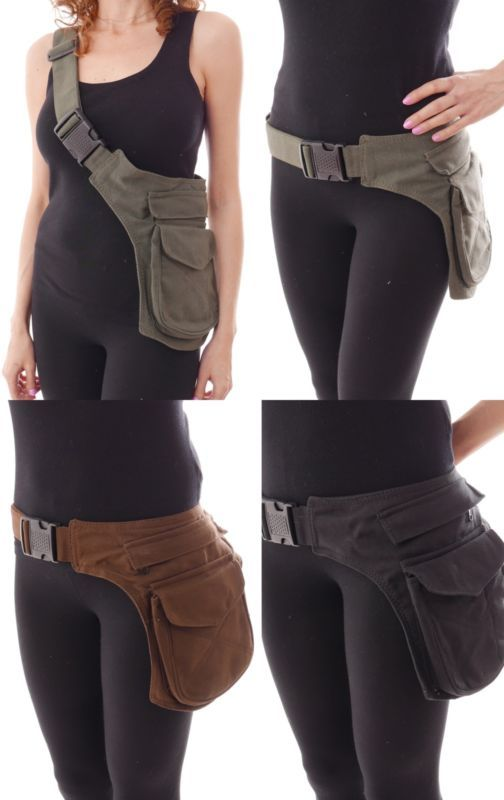 Suede Leather Waist Hip Pack Bag Belt Burning Pouch Party Playa Rave ...