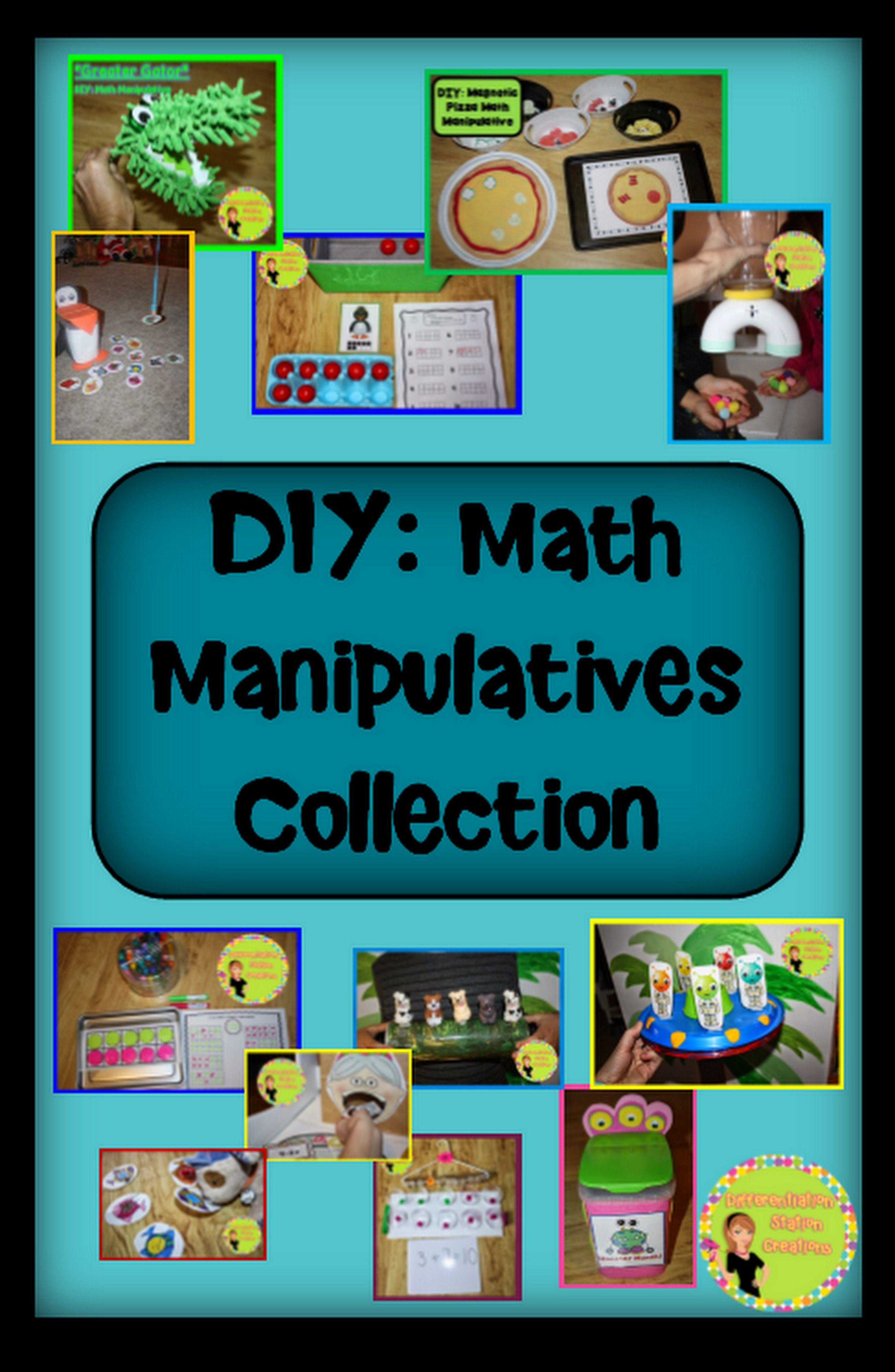 DIY Math Manipulatives Collection. Round up of easy DIY math ...