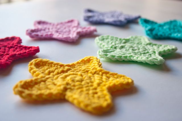 Star Applique Pattern By Carolina Guzman Crochet Pinterest