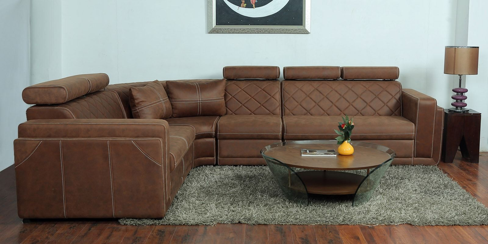 Buy Nova Corner Sofa With Upholstery In Tan Colour By Star India Online Contemporary Corner Sofas Sectional Sofas Furniture Pepperfry Product Corner Sofa Design Corner Sectional Sofa Sectional Sofa