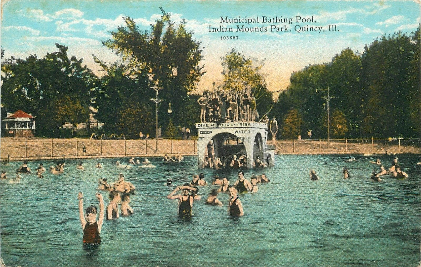 Quincy Il Indian Mounds Park Pool 1910 Quincy Illinois Some Vintage Some Not There 39 S No