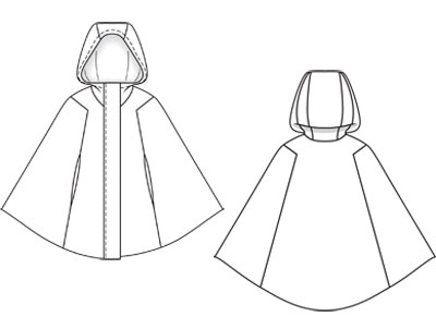 patron couture cape chaperon rouge