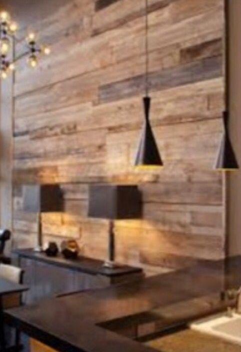 Panelled Wood Wall Using Flooring Instead Of Reclaimed Wood